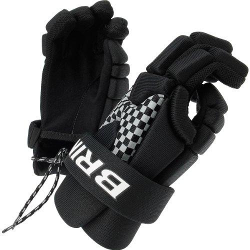 BRINE Men's LoPro Prodigy Junior Lacrosse Gloves - Size: 8, Black