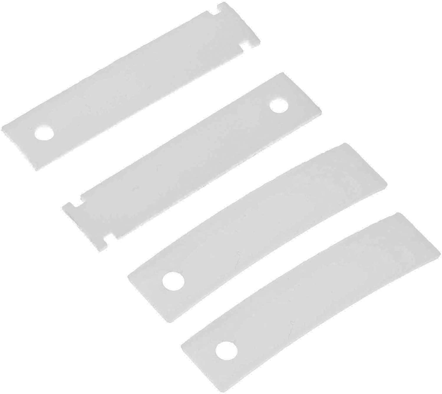 WE1M333 WE1M1067 Dryer Drum Bearing Slide, Replace # WE1M333 AP3206716 WE1M481 WE1M316 AP5668531 WE1M507, Replacement for GE, Kenmore, Hotpoint, Sears, RCA (Pack of 4)