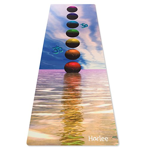 Eco Friendly Non Slip Yoga Mat, ANTI-TEAR 2-1 Premium Combo Yoga Towel + Workout Mat & Mat Strap by Horlee-24