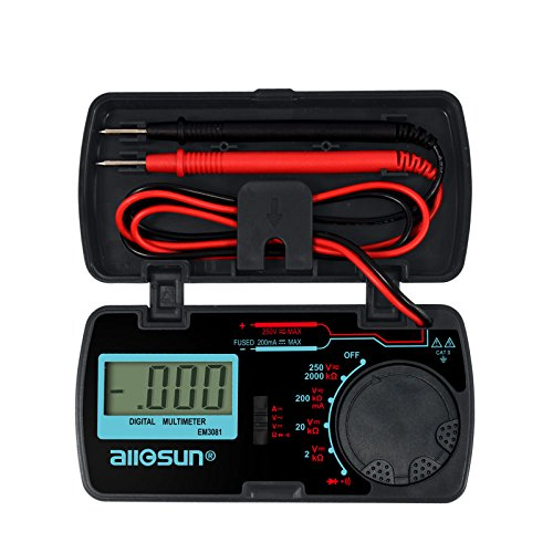 Compact Digital Multimeter (all-sun Digital Multimeter/DMM/Multi Tester Amp/Ohm/Volt Meter/Diode and Continuity Test Pocket Size)