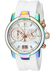 Technomarine Womens UF6 Quartz Stainless Steel and Silicone Casual Watch, Color:White (Model: TM-615020)