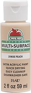Apple Barrel Multi Surface Acrylic Paint, 2 oz, Peach 2 Fl Oz,21963E
