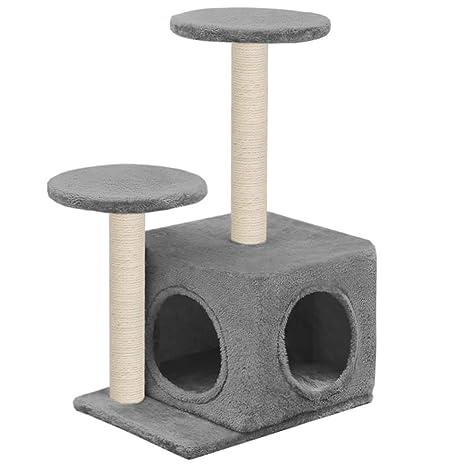 vidaXL Rascador para Gatos con Poste Rascador Sisal 60cm Gris Juegos Mascotas