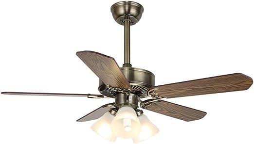 Qiuuwater Ventilador de Techo Interior luz LED y Control Remoto ...