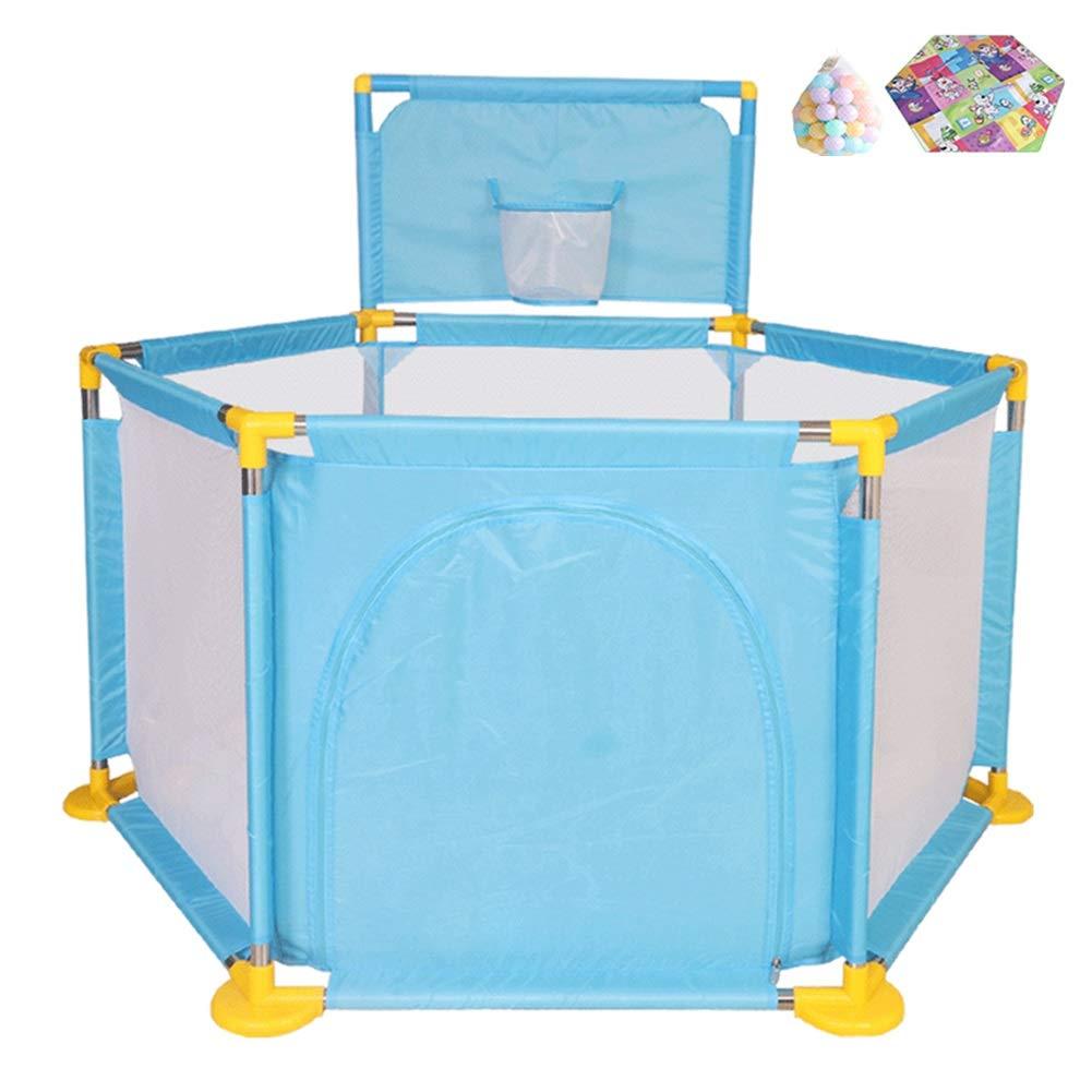 【国内即発送】 ベビーサークル, ベイビーシューティングクロールマットと200ボールで庭を再生丨幼児のためのポータブル6パネルPlaypen - 128×66×66cm (サイズ (サイズ さいず : : 青) 青 B07J57JTMH B07J57JTMH, タマグスクソン:37caa02d --- a0267596.xsph.ru