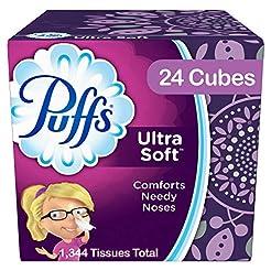 Puffs Ultra Soft Facial Tissues, 24 Cube...