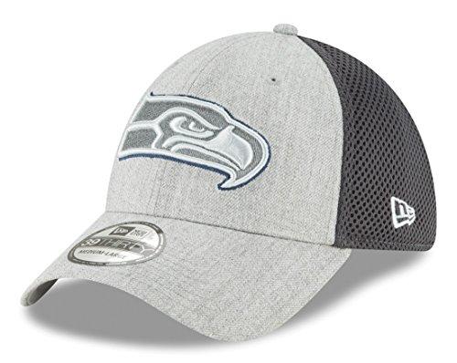 (New Era Seattle Seahawks NFL 39THIRTY Heathered Neo Pop Flex Fit Hat)
