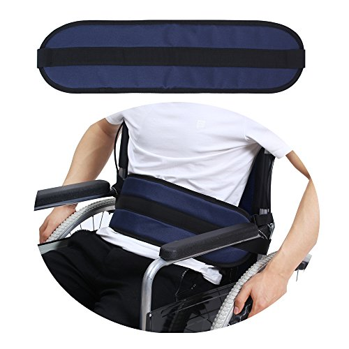 Wheelchair Seat Belt Medical Restraints Straps Patients Cares Safety Harness Chair Waist Lap Strap for Elderly (Blue) by NEPPT