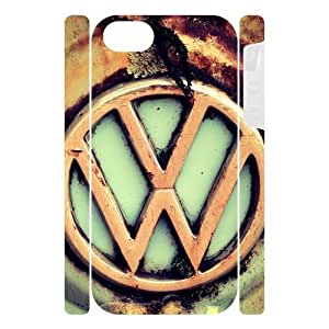 Canting_Good VW Bus Logo Custom Dual-Protective 3D Polymer Case Shell Cover for IPhone 5