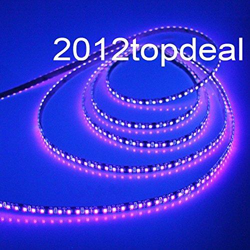 FidgetGear 5M 3528 UV Ultraviolet 395nm 600 LED strip 120led/m SMD Light WP IP65 white PCB