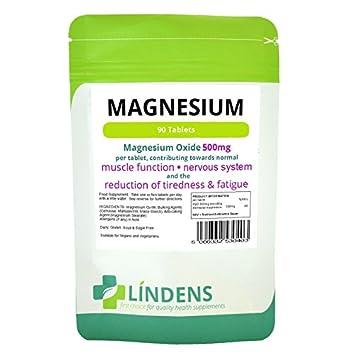 Lindens óxido de magnesio 500 mg 2-PACQUETE Suplemento Mineral 180 Tabletas: Amazon.es: Salud y cuidado personal