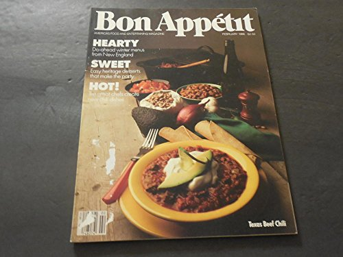 Bon Appetit February 1986 Winter Menu  Chili Dishes
