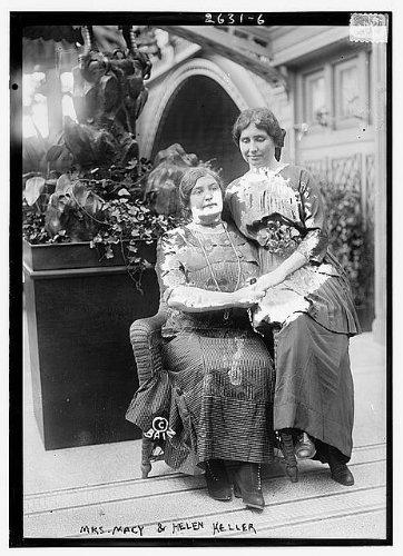 Photo: Helen Keller,Mrs Macy,possibly at International Flower Show,New York - Map Macys New York