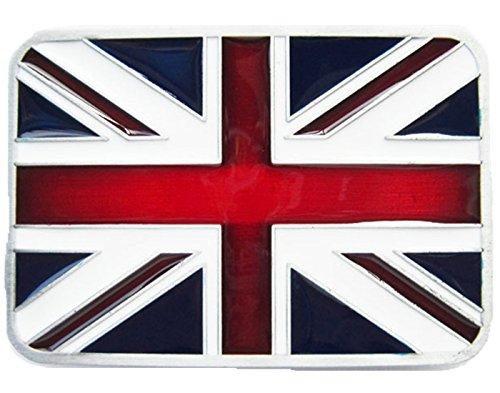 New Enamel Union Jack Flag UK Flag Vintage Belt Buckle also Stock in US (British Flag Belt Buckle)