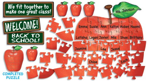 Scholastic Welcome! Apple Puzzle Bulletin Board (TF8001) General Education Education / General Non-Fiction
