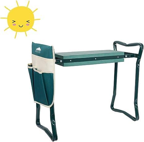 Folding Garden Kneeler Seat Bench Stool Kneeling Bag Tool Pouch Multiple-pocket