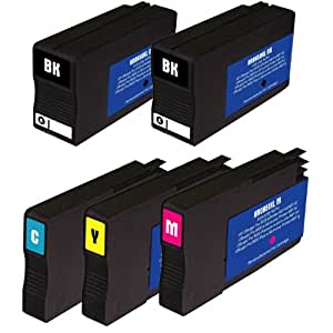 HI-VISION HI-YIELDS ® Compatible Ink Cartridge Replacement for Hewlett-Packard (HP) 950XL + 951XL (2 Black, 1 Cyan, 1 Yellow, 1 Magenta, 5-Pack)