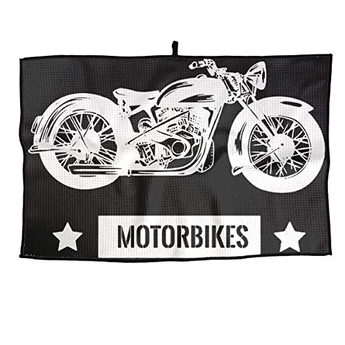 LETI LISW Golf Towel Vintage Motorcycle Tennis Running Gifts Towel