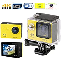 Efanr 12MP Action Camera 2 Inches Ultra Full HD 4K 1080P WIFI Waterproof Sport Cam 170 Degree Wide Angle Lens with SONY Sensor Selfie Accessories