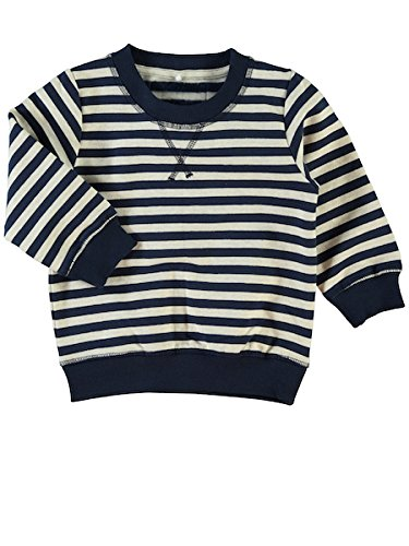 NAME IT Jungen Sweatshirt Nitsoron LS Swe Top MZ Ger, Mehrfarbig (Dress Blues), 110