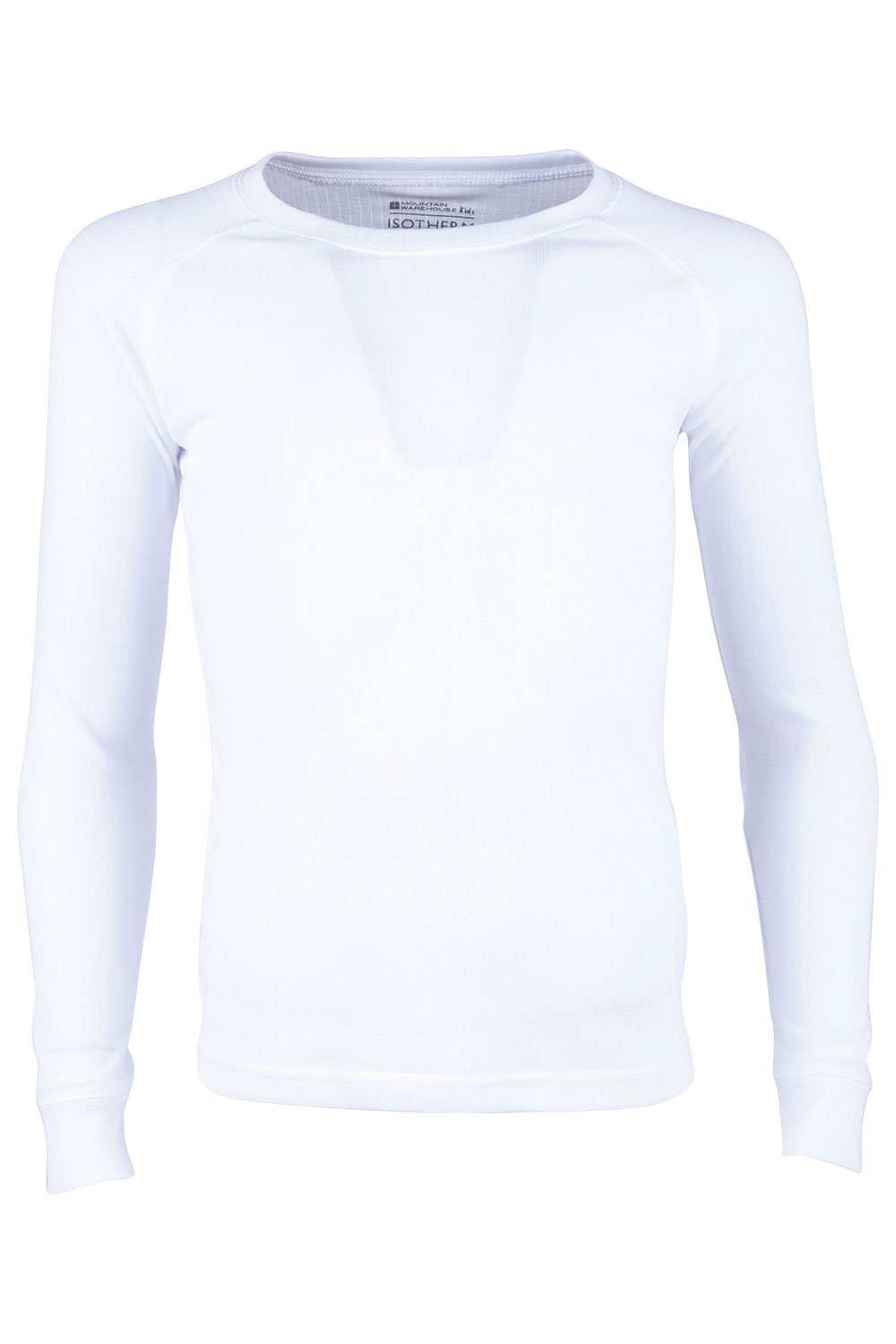 Mountain Warehouse Talus Kids Thermal -Lightweight, Long Sleeves Top White 3-4 Years