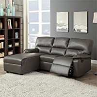 ACME Furniture Artha 51560 Motion Sectional Sofa, Gray Bonded Leather Match