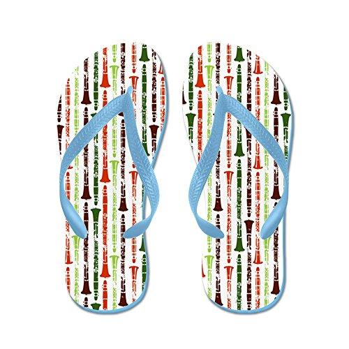 CafePress Orange Clarinet - Flip Flops, Funny Thong Sandals, Beach Sandals Caribbean Blue