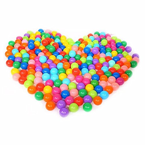 50 Pcs Colorful Fun Plastic Soft Balls Swim Toys Ocean Ball Pit for Play Tents Playhouses Kiddie Pools Pack 'N Play Bounce Houses for Kids Birthday Christmas Gift 2.16'' by COFFLED