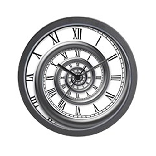"CafePress Roman Spiral Unique Decorative 10"" Wall Clock"
