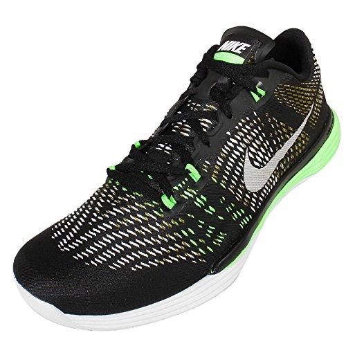 Nike Mens Maan Caldra, Zwart / Wit-mlt Groen-vltg Groen, 14 M Us