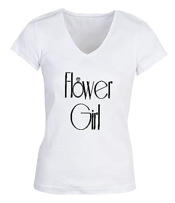 NoMoreFamous Hower Girl Wedding Party Small Womens V-neck T-shirt