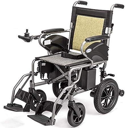 AOLI Sillas de ruedas eléctricas para trabajo pesado para adultos, Silla de ruedas eléctrica para minusválidos, ligero plegable de alimentación ayuda motriz Peso silla de ruedas Sólo 23Kg Soporte 100