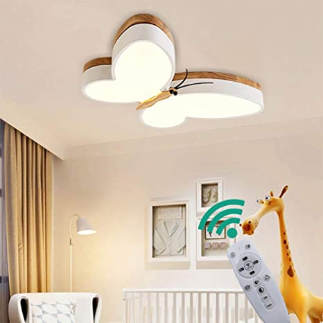 LED Deckenlampe Dimmbar Kinder Kinderzimmer Lampen Holz Schmetterling  Schlafzimmer Deckenleuchte 30w, Metall Acryl-schirm Lampe Esszimmer Bad  Küche ...