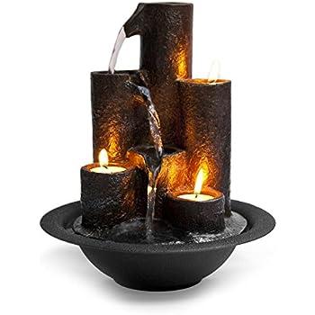 Great SereneLife Desktop Waterfall Fountain (3 Tier) | Cascading Tabletop Water  Decoration | Indoor