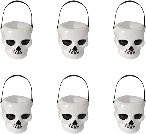 3 Shades of Green Skull Hollow Head Mini Favor Boxes printable Halloween treats