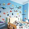 Kunstbruder köln mECO sticker mural autocollants maison décoration wasserwelt poisson