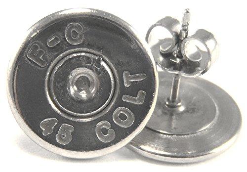 .45 Colt Federal Cartridge Palladium Plated Ear Posts