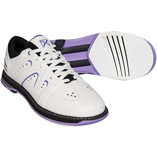 KR Strikeforce L-051-080 Quest Bowling Shoes, White/Purple, Size 8