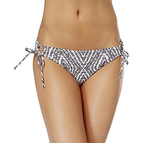 Raisins Women's Sweet Pea Tie-Dyed Side-Tie Bikini Bottom (Black/White, Small)