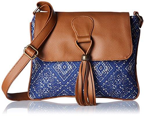 Kanvas Katha Women's Sling Bag (Blue) (KKSNWV008)