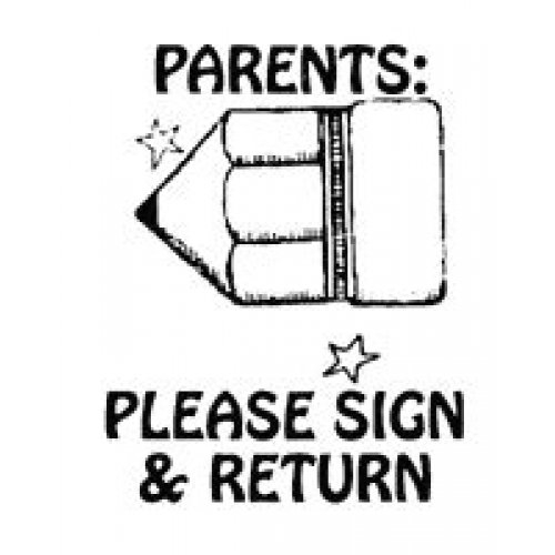 Center Enterprise CEJ9879'Teacher Sign Return' Jumbo Stamp Center Enterprises Inc.