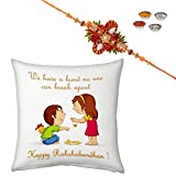 Little India We Have A Band No One Can Break Apart Printed Soft Cushion Printed Soft Cushion n Jaipuri Rakhi For Brother