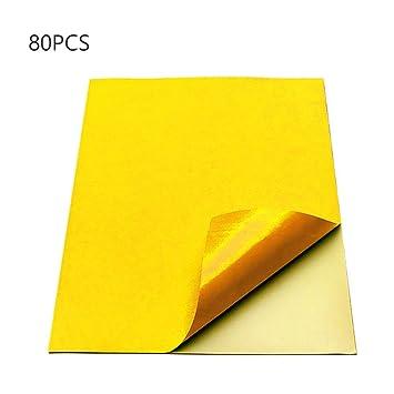 80pcs hojas de papel de impresión autoadhesivas color, A4 Papel ...