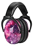 ZOHAN Adjustable Earmuff for Toddler to Teen, Fashionable Hearing Protection For Children (Star)