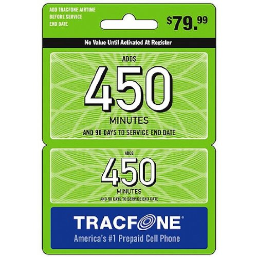 Tracfone Wireless 450 Minutes and 90 Days of Service
