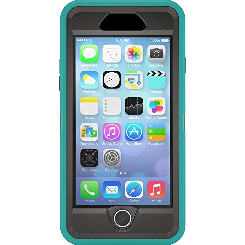 iPhone 6s Case - OtterBox Defender Series Case for Apple iPhone 6/6s (Case Only - Holster NOT Included) (Light Teal - Black)