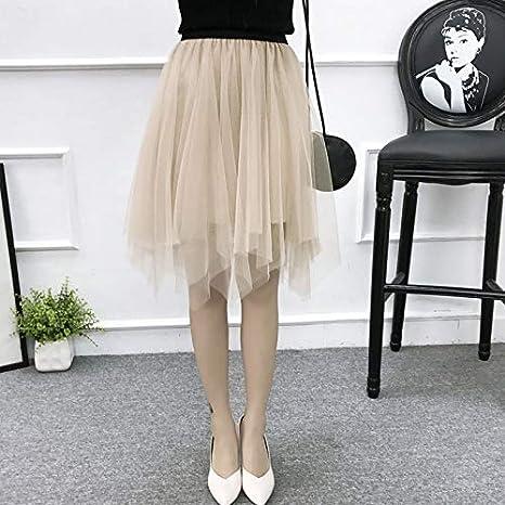 DWWAN Falda Corta Faldas de Tul para Mujer de Moda elástica de ...