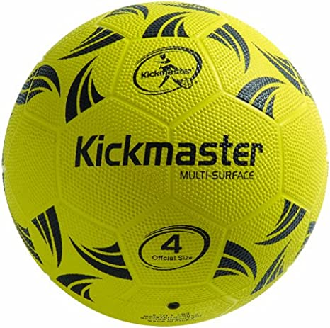 Kickmaster Pelota multisuperficie, Color Negro y Amarillo, Talla 4 ...