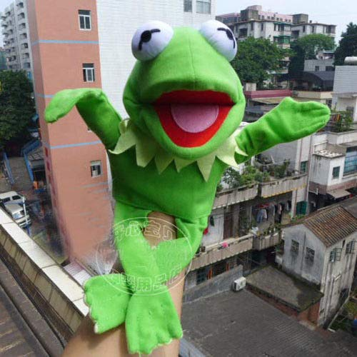 Frog Hand Puppet (FidgetGear Muppets Most Wanted Show Kermit The Frog Plush Doll Hand Puppet Toy Gift)