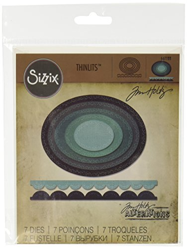 ed Ovals Thinlits Die Set by Tim Holtz (7/Pack) ()